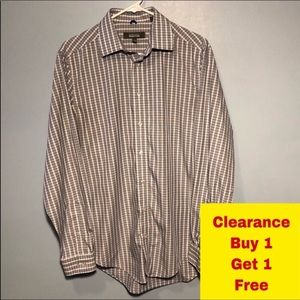 "Kenneth Cole Reaction Button-Down Neck 15-15.5"" M"